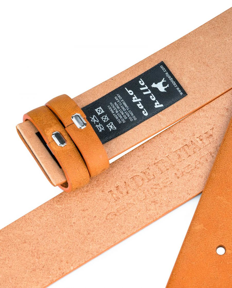 Vegetable-Tanned-Leather-Belt-Strap-Replacement-Heat-stamp