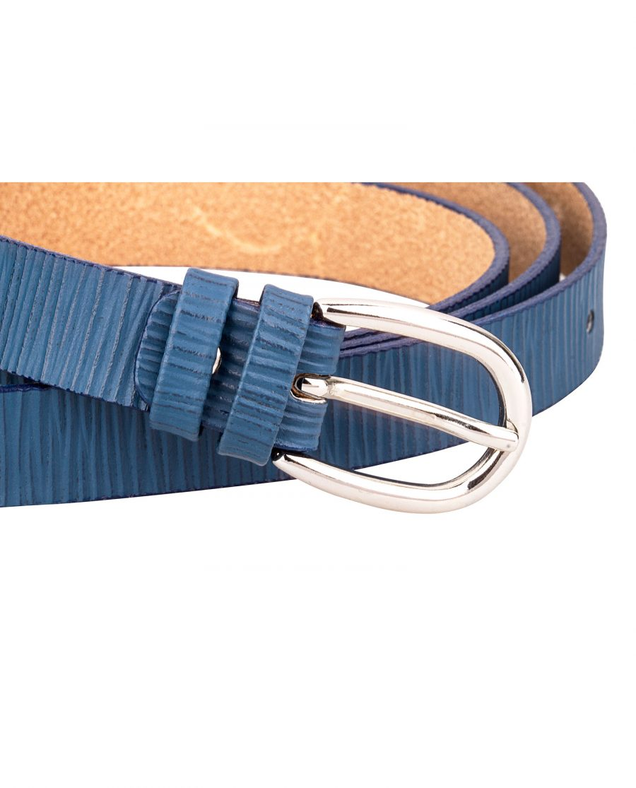 Vertical-Striped-Blue-Skinny-Belt-Buckle