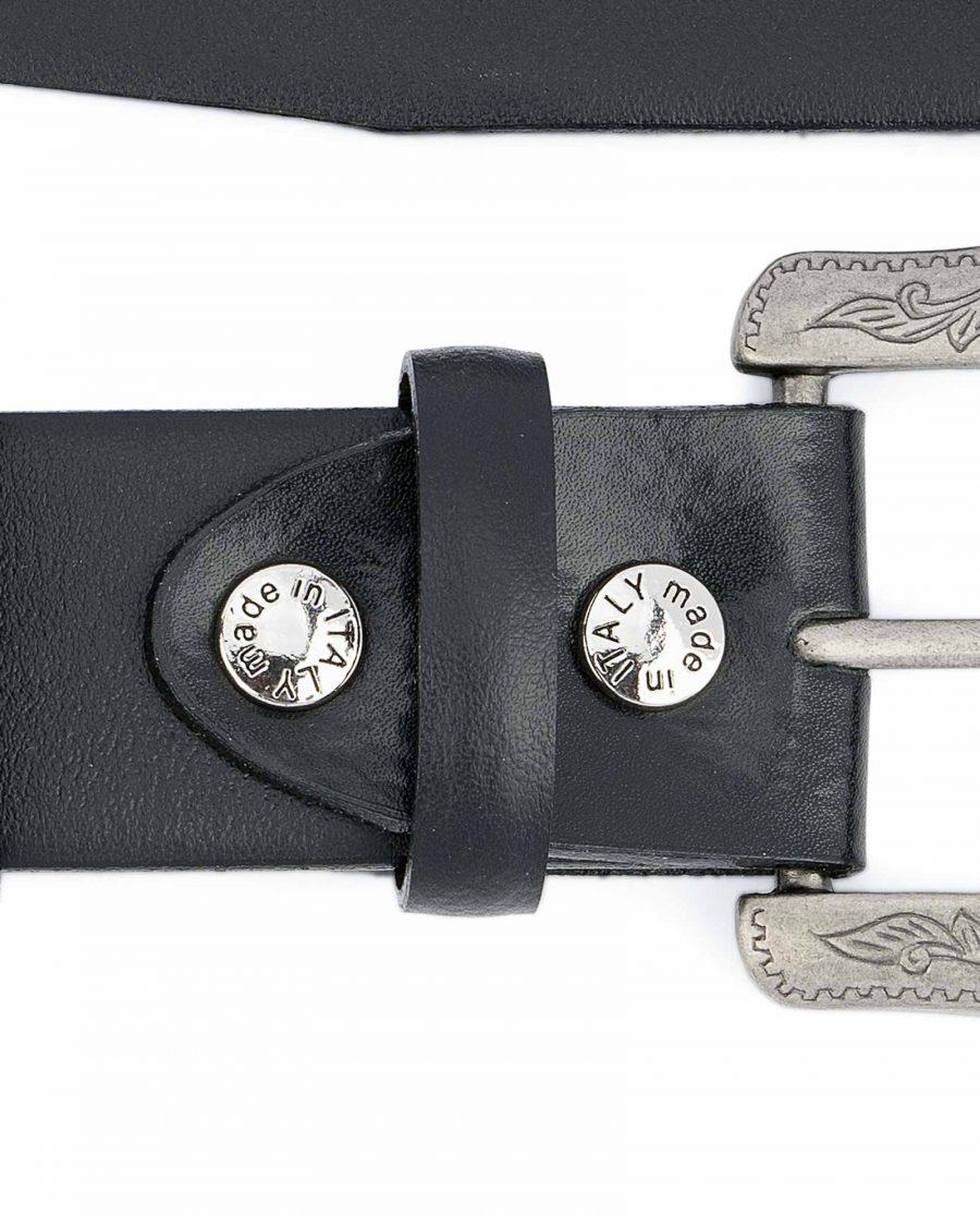 Western-Belt-Mens-Black-Smooth-Leather-Belt-screws