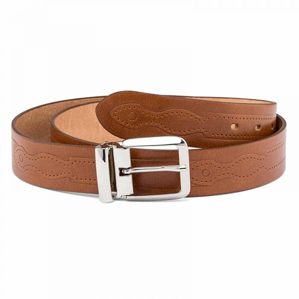 Western-Embossed-Italian-Leather-Belt-First-image