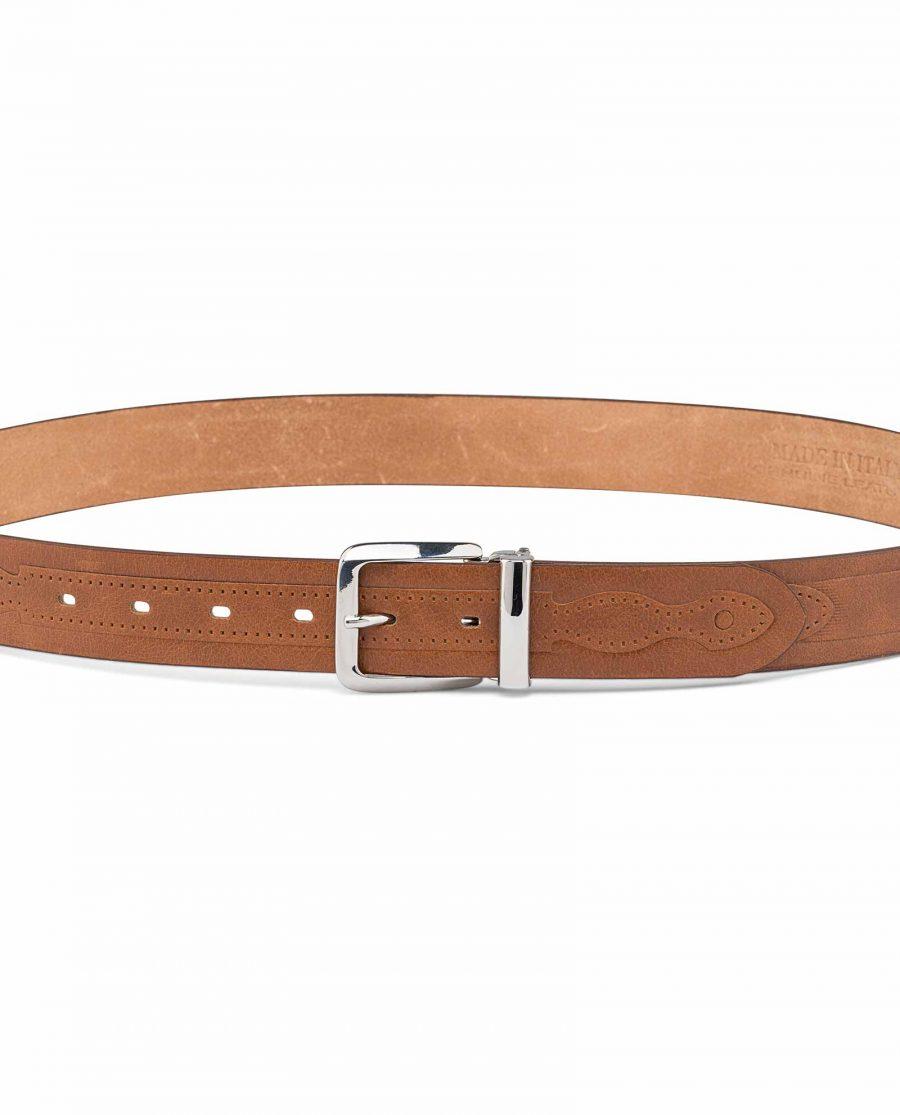 Western-Embossed-Italian-Leather-Belt-On-jeans