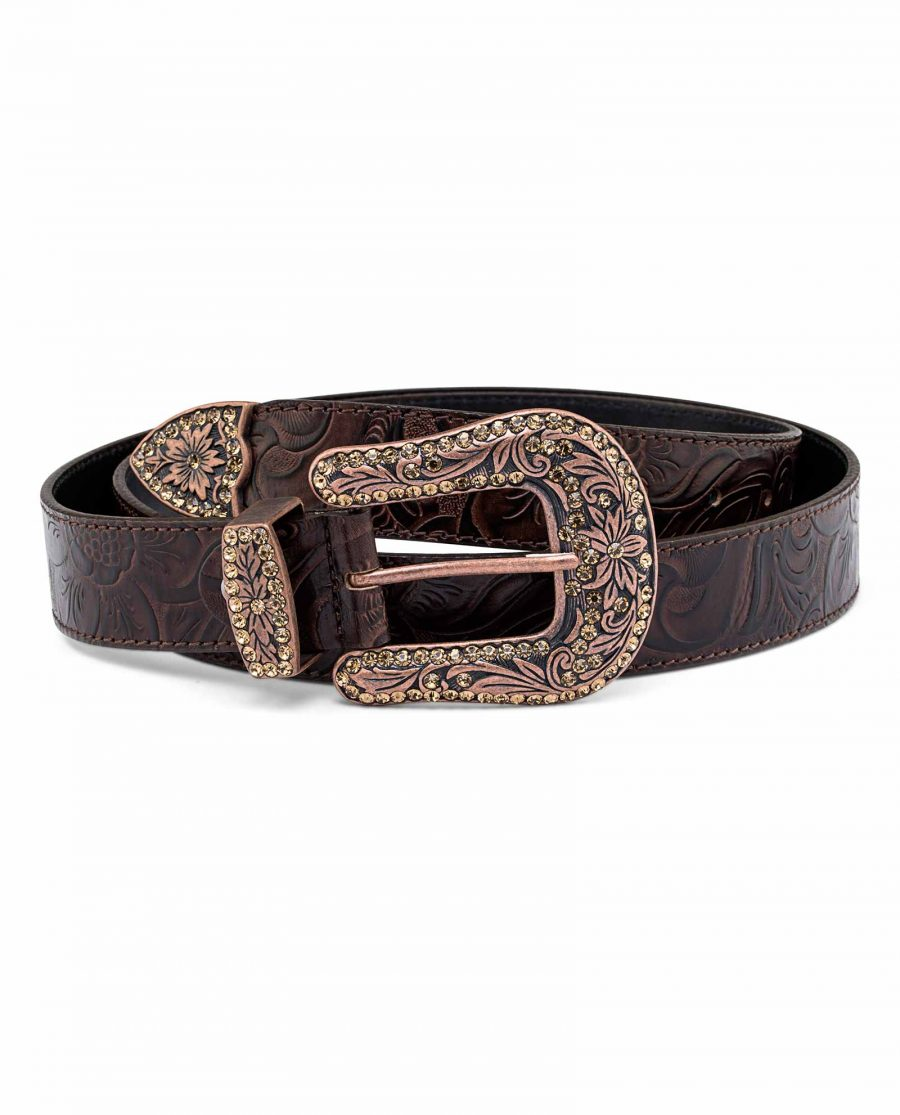 Western-Floral-Belt-With-Copper-Buckle-First-picture