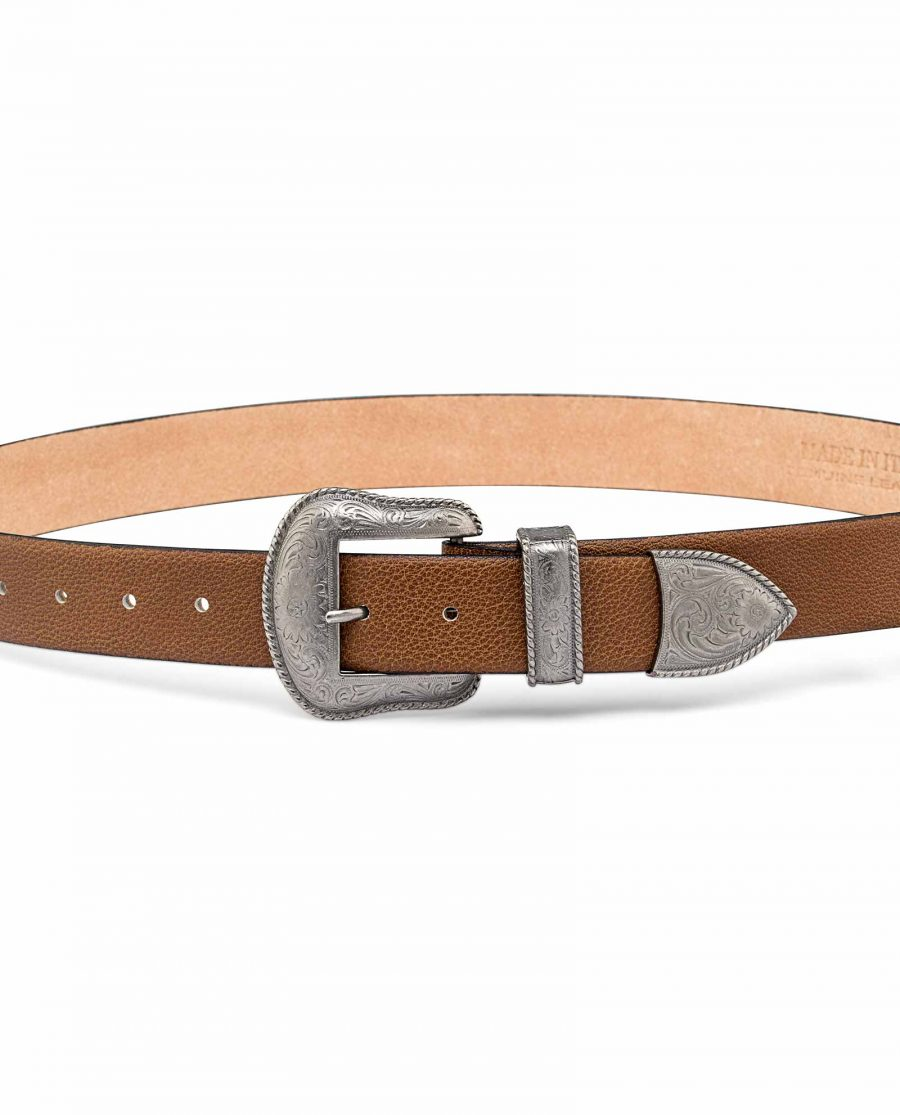 Western-Leather-Casual-Belt-On-pants