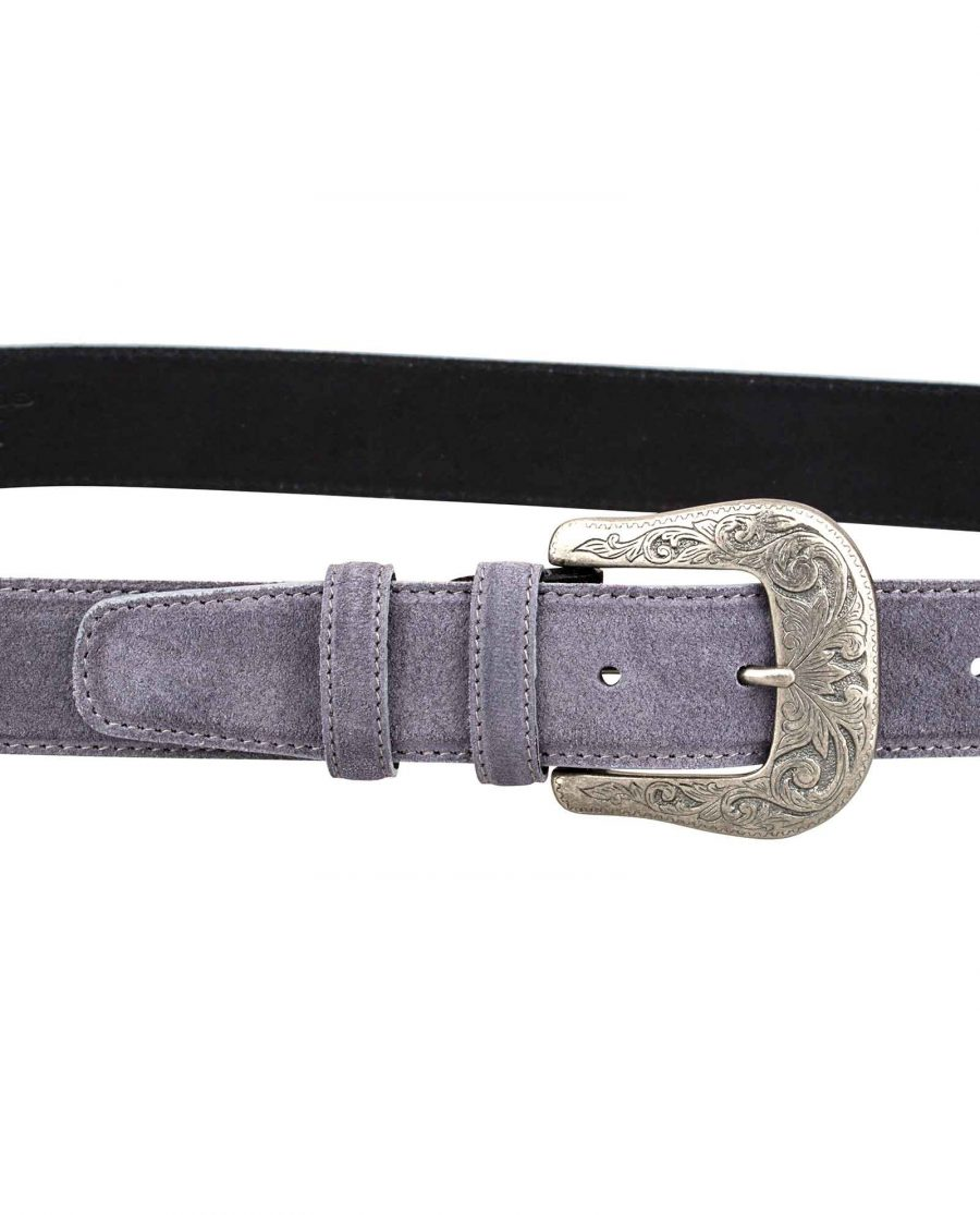 Western-Suede-Gray-Belt-On-pants