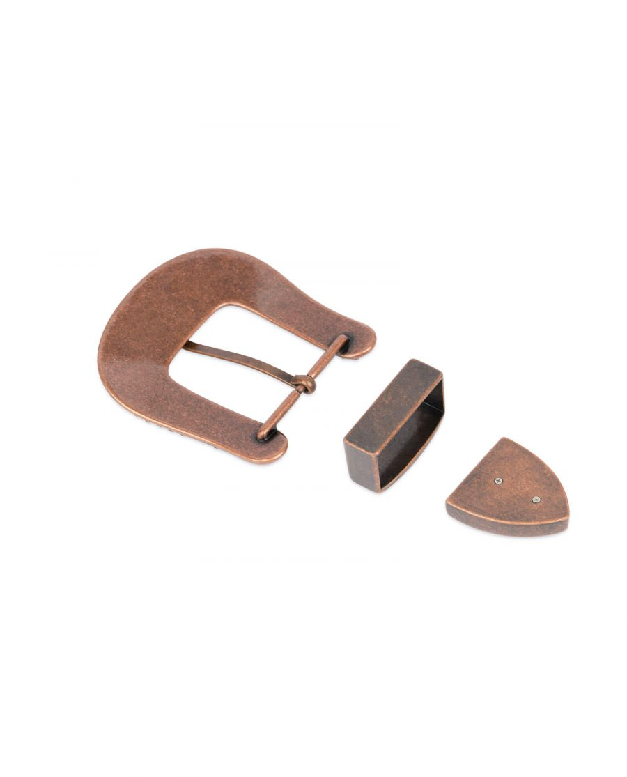 Western rhinestone copper belt buckle COPP34CWSET 3