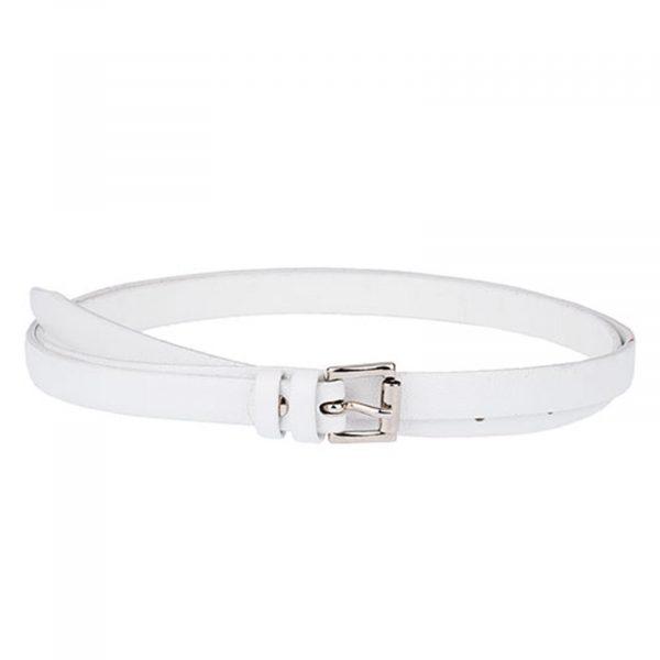 White-Leather-Skinny-Belt-Front-Image