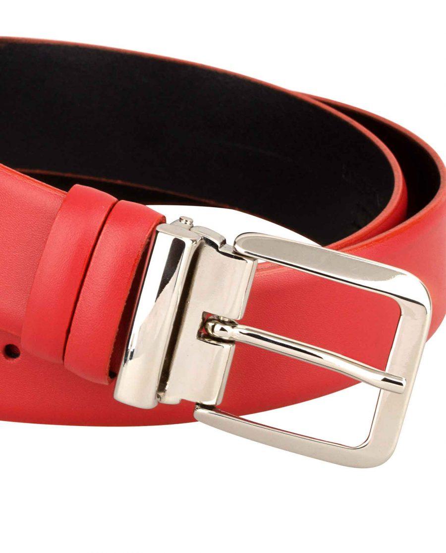 Womens-Red-Belt-Italian-Buckle-Closer-image
