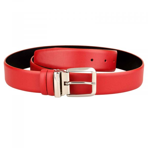 Womens-Red-Belt-Italian-Buckle-First-image