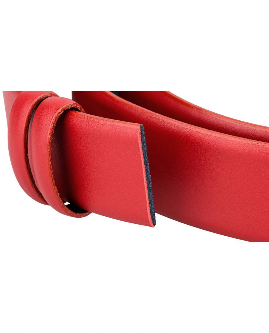 Womens-Red-Belt-Strap-Buckle-attachment