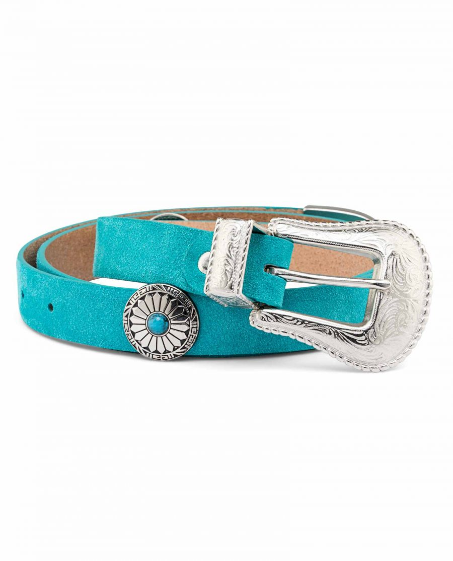 Womens-Turquoise-Concho-Belt-Big-picture