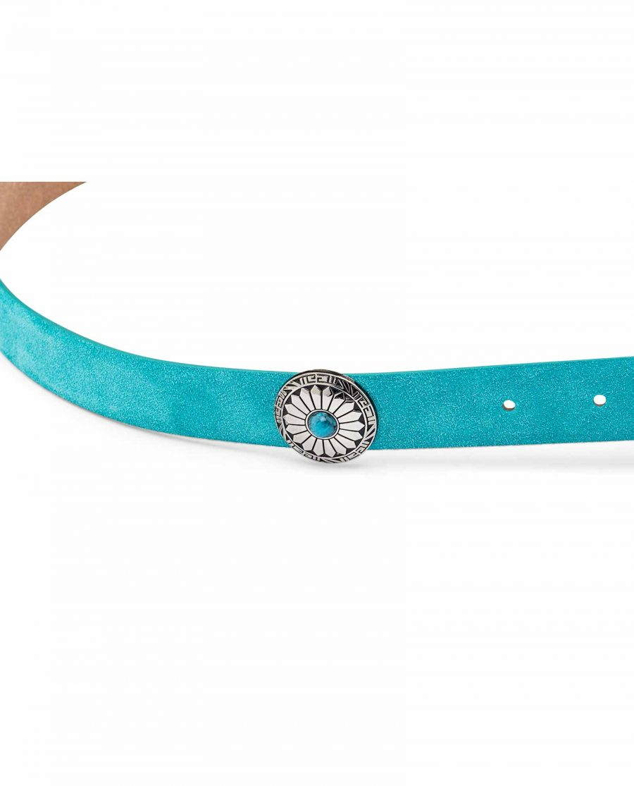 Womens-Turquoise-Concho-Belt-Close-picture