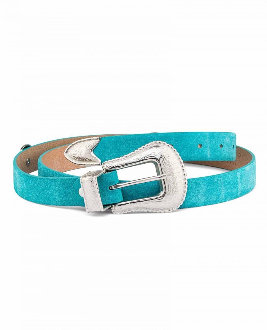Womens-Turquoise-Concho-Belt-Coqgirl-buckle-image