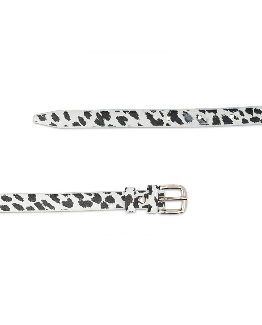 Womens Zebra Print Skinny Belt 2