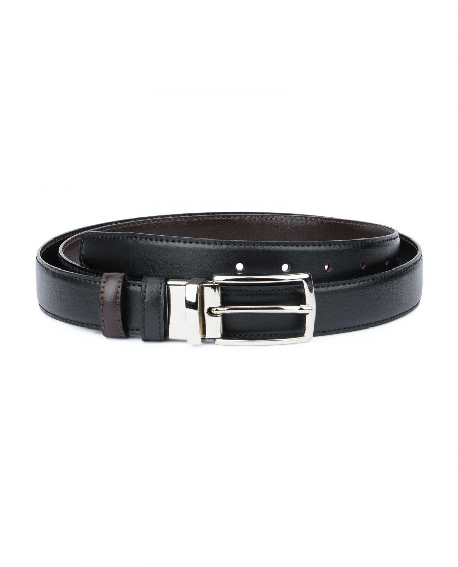 Black Brown Reversible Belt Men's 30 mm Capo Pelle
