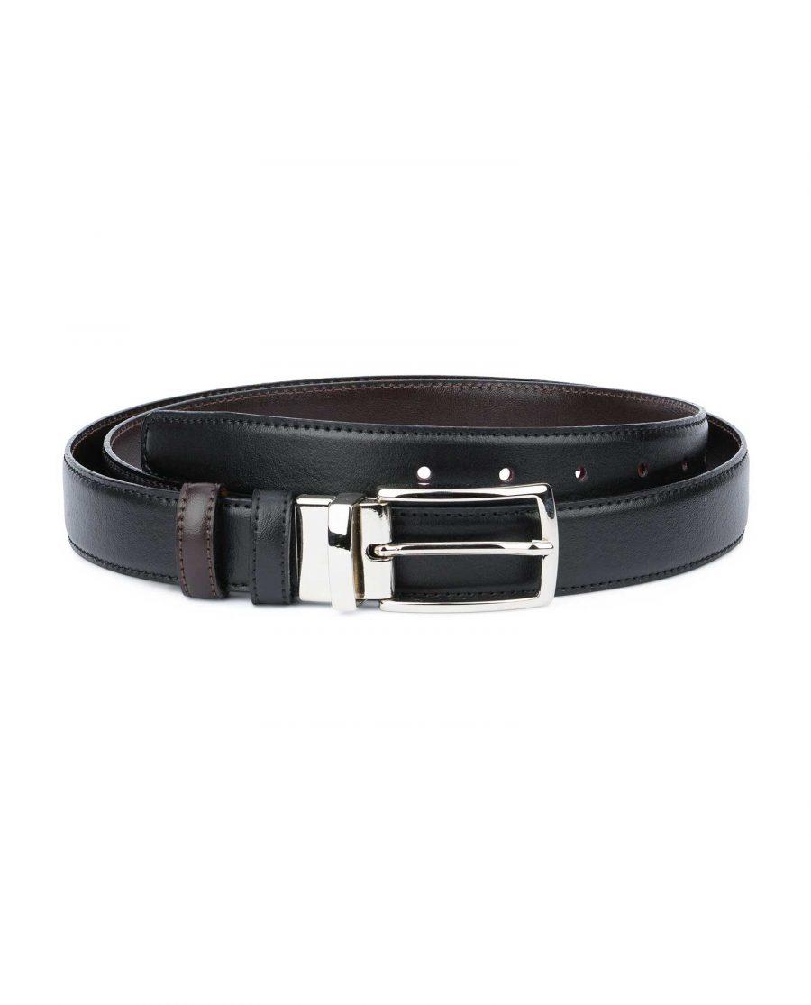 Black-Brown-Reversible-Belt-Mens-30-mm-Capo-Pelle