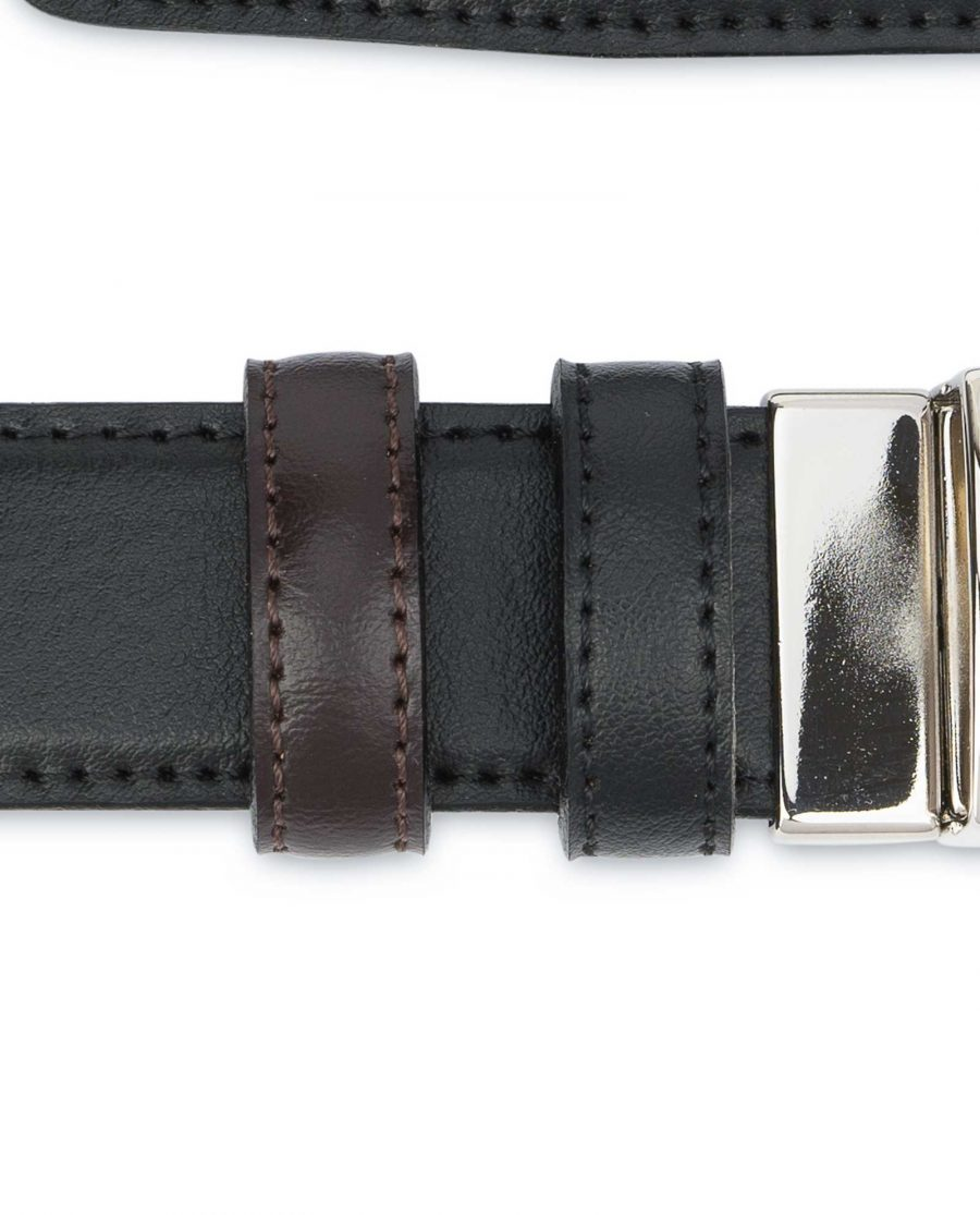 Black Brown Reversible Belt Men's 30 mm Loops