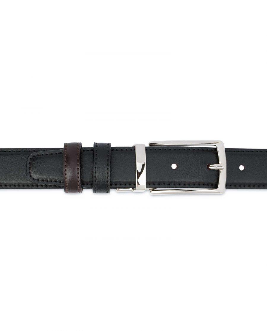 Black-Brown-Reversible-Belt-Mens-30-mm-On-pants