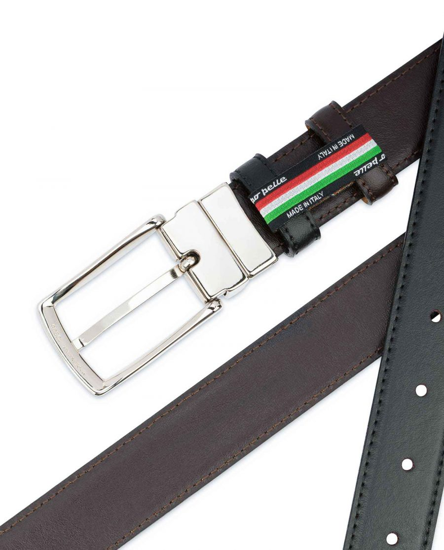 Black-Brown-Reversible-Belt-Mens-30-mm-Smooth-Leather