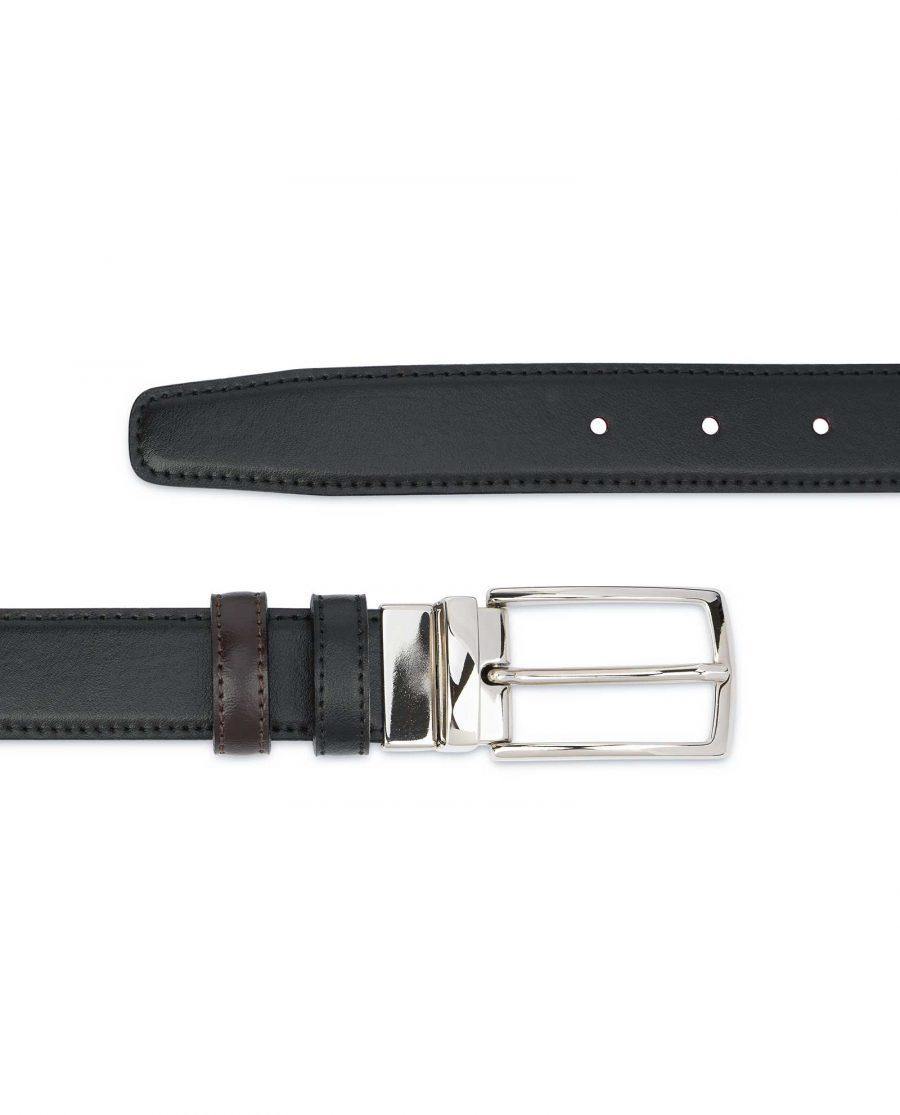 Black-Brown-Reversible-Belt-Mens-30-mm-Stitching