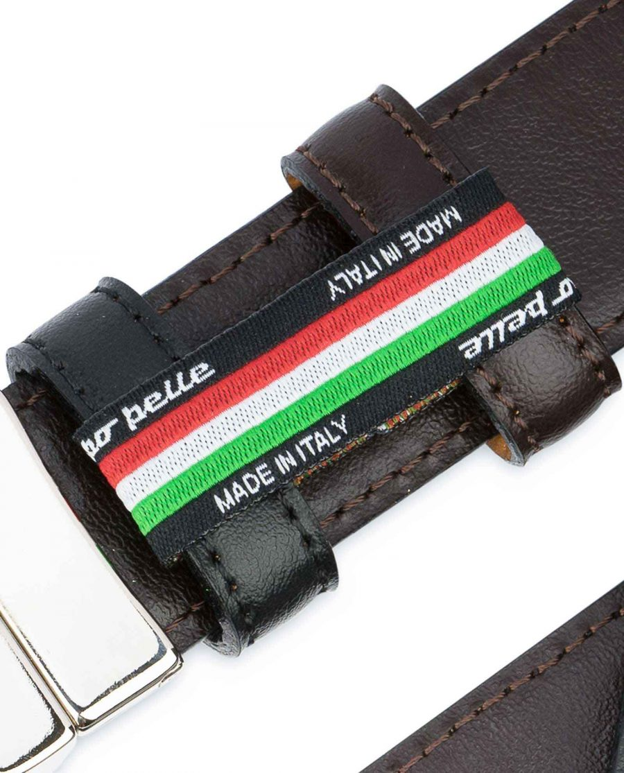 Black Brown Reversible Belt Men's 30 mm Woven label