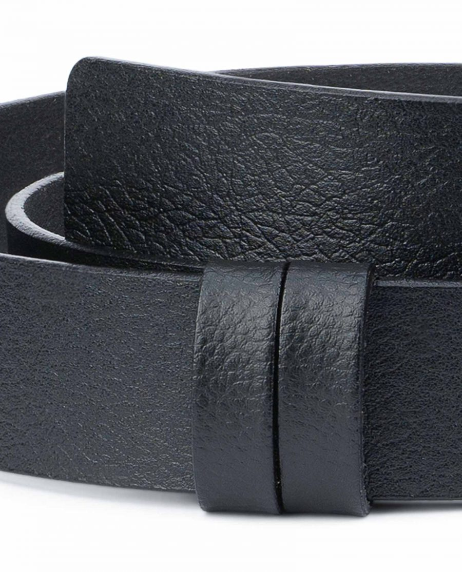 Black-Leather-Belt-No-Buckle-Replacement-Strap-Loops