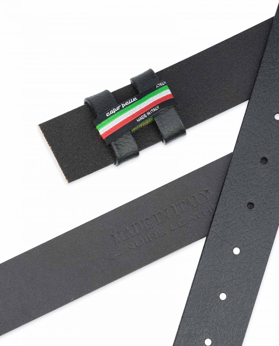 Black-Leather-Belt-No-Buckle-Replacement-Strap-Made-in-Italy