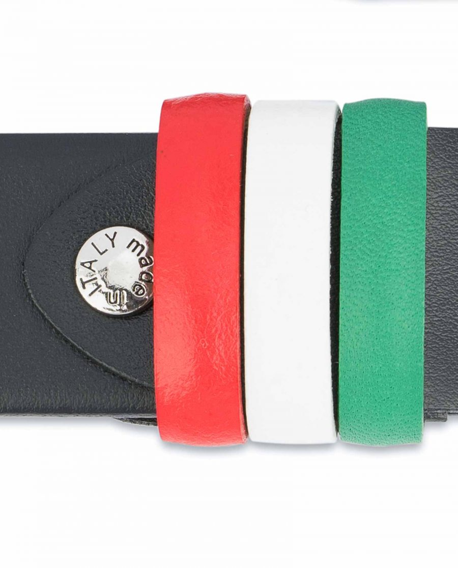 Black-Leather-Belt-with-Italy-Flag-Colors-Green-white-red