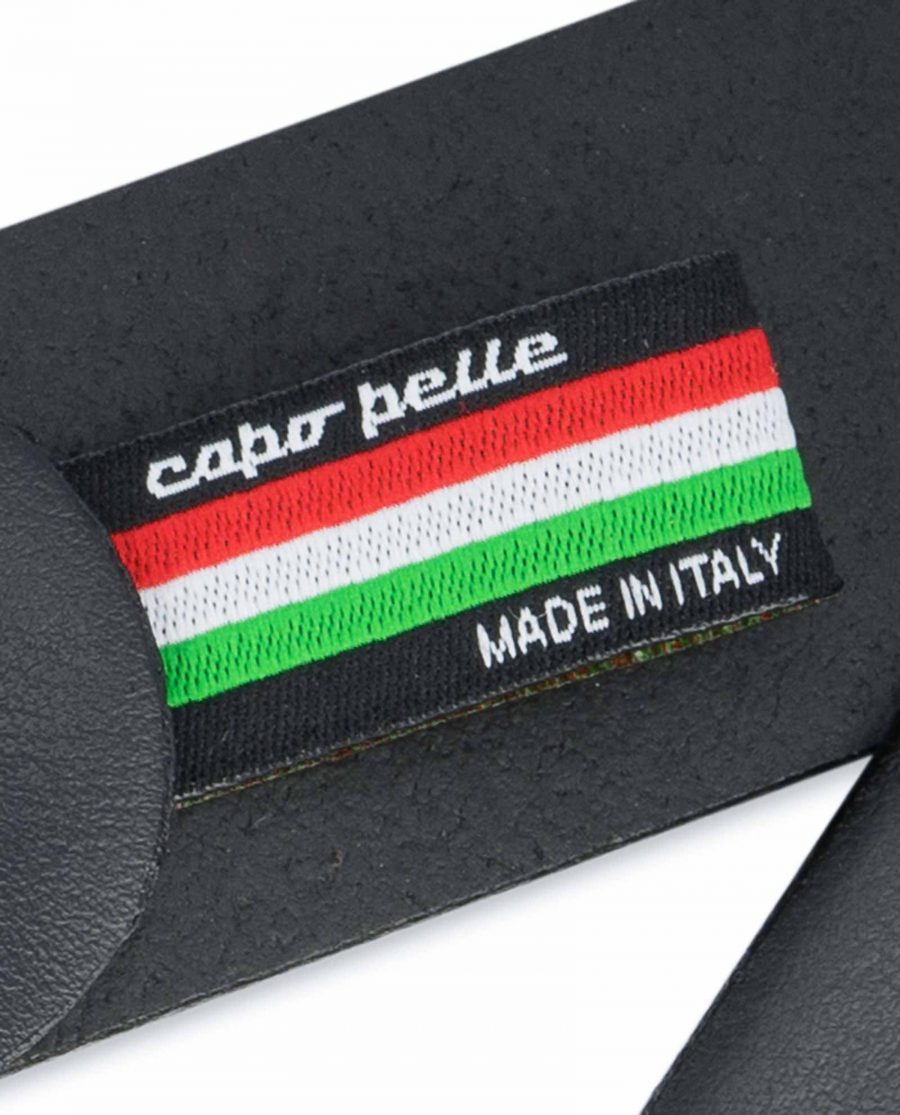 Black-Leather-Belt-with-Italy-Flag-Colors-Woven-label