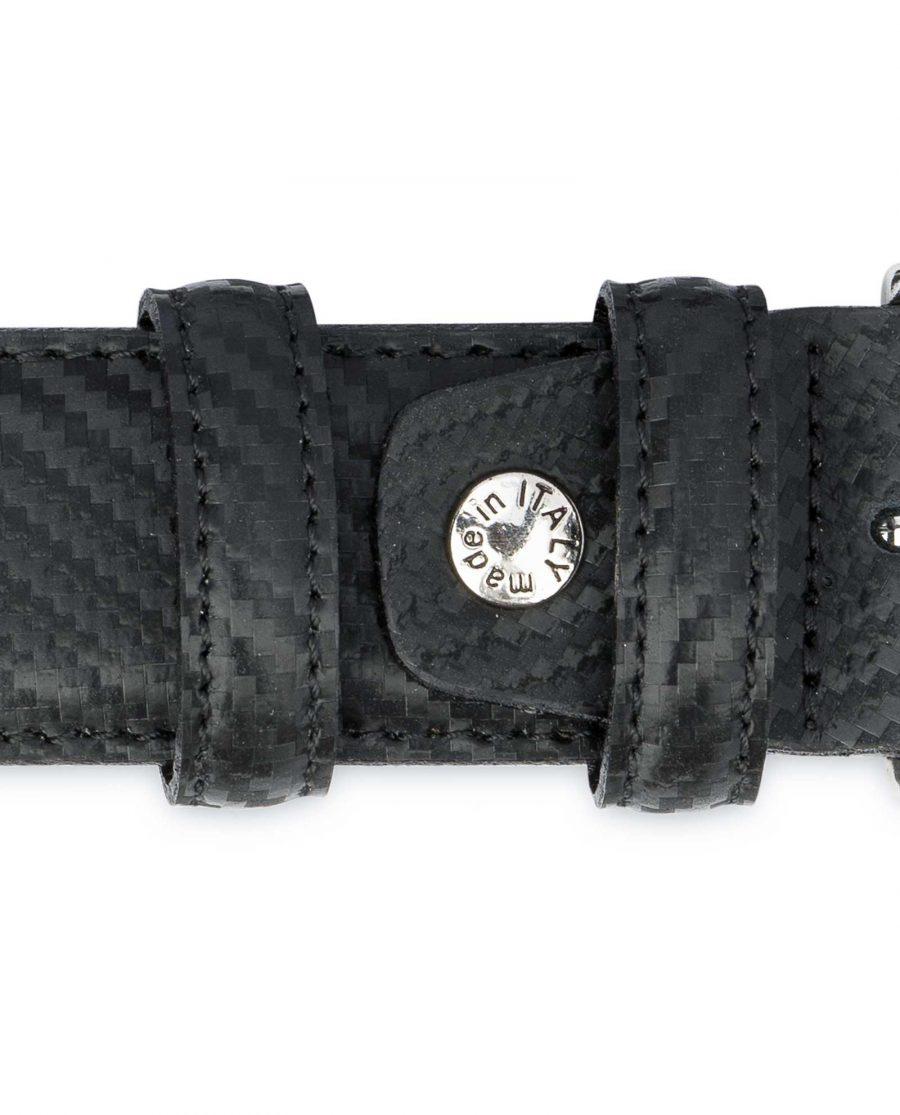 Black-Mens-Leather-Belt-Carbon-Print-Belt-screw