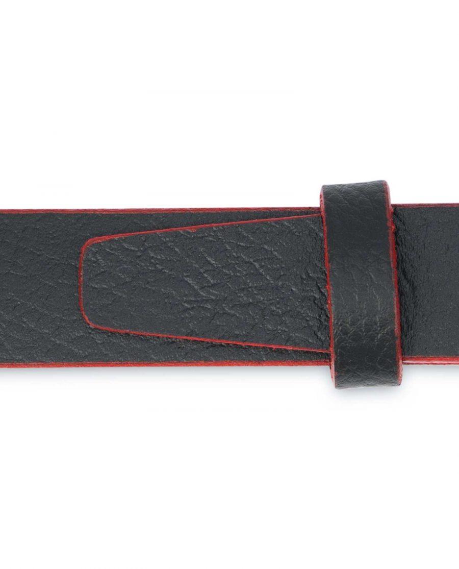 Mens-Black-Thin-Leather-Belt-Square-Buckle-Pebbled-calfskin