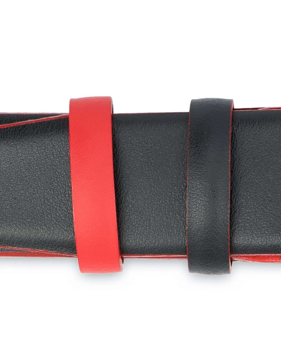 Mens-Designer-Belt-Black-with-Red-Belt-loops