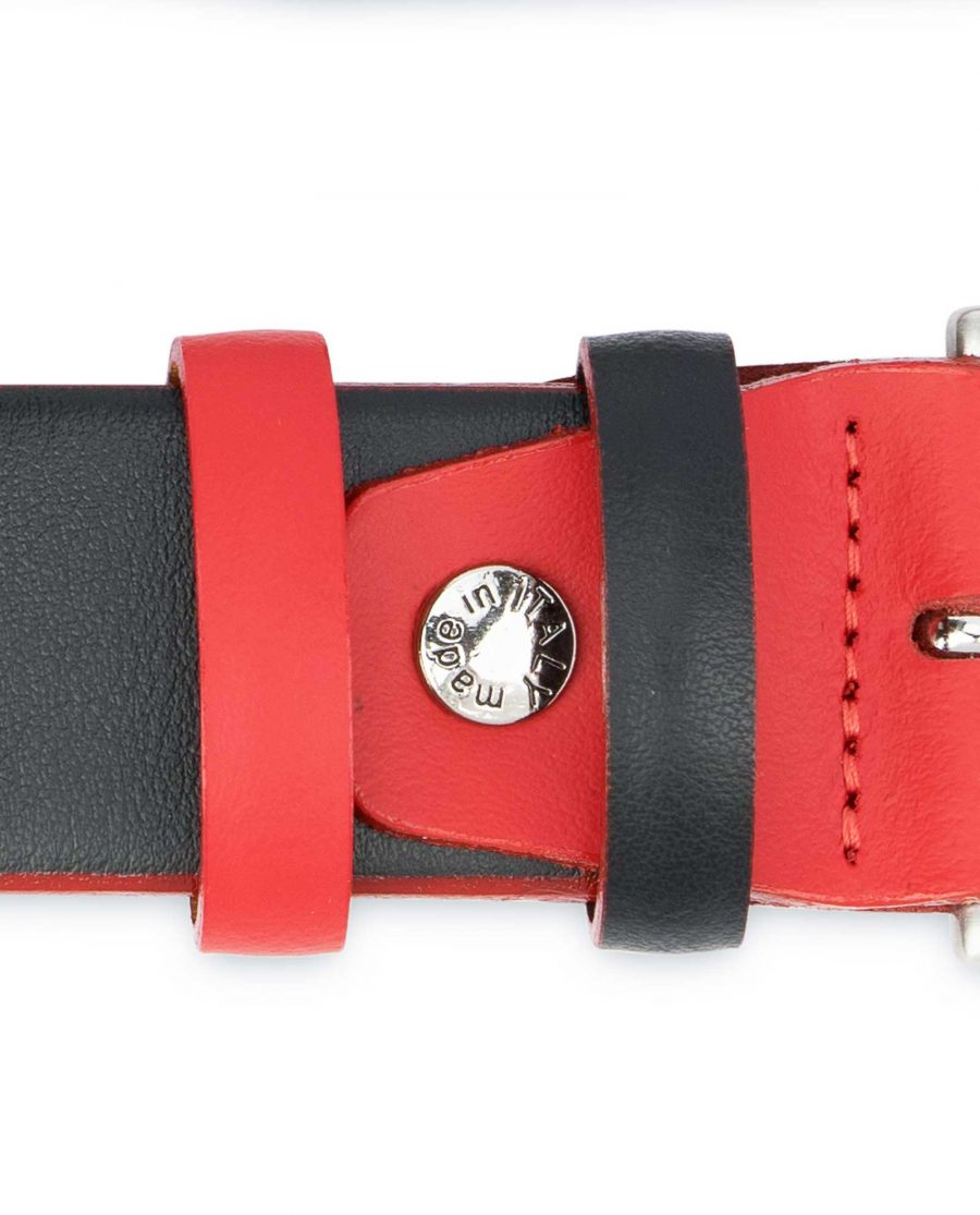 Mens-Designer-Belt-Black-with-Red-Italian-leather