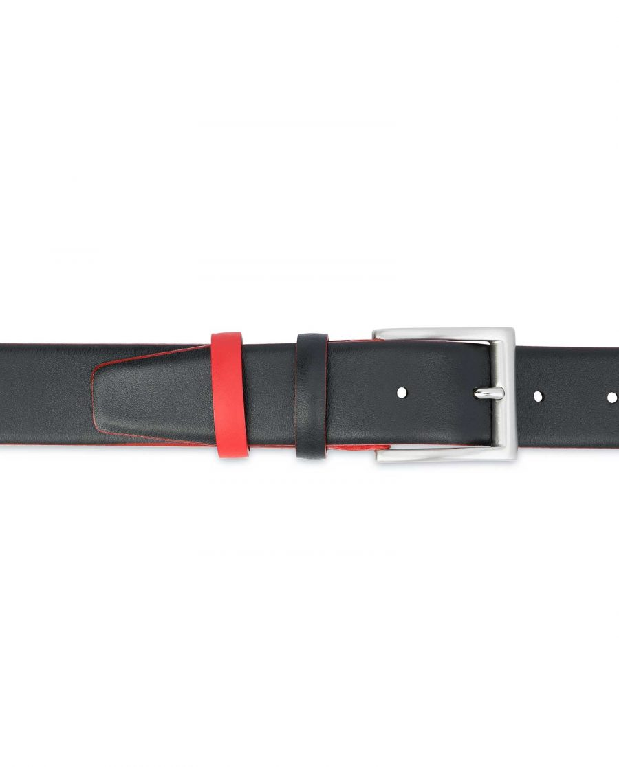 Mens-Designer-Belt-Black-with-Red-On-pants