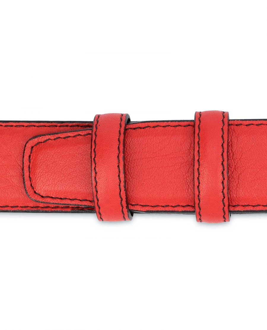 Mens-Red-Leather-Belt-Black-Stitching-Loops