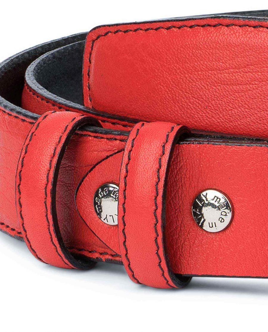 Mens-Red-Leather-Belt-Black-Stitching-Luxury-designer