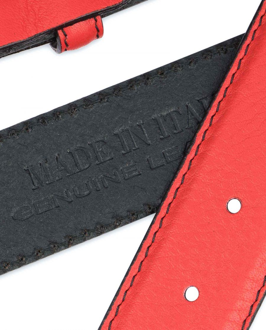 Mens-Red-Leather-Belt-Black-Stitching-Made-in-Italy