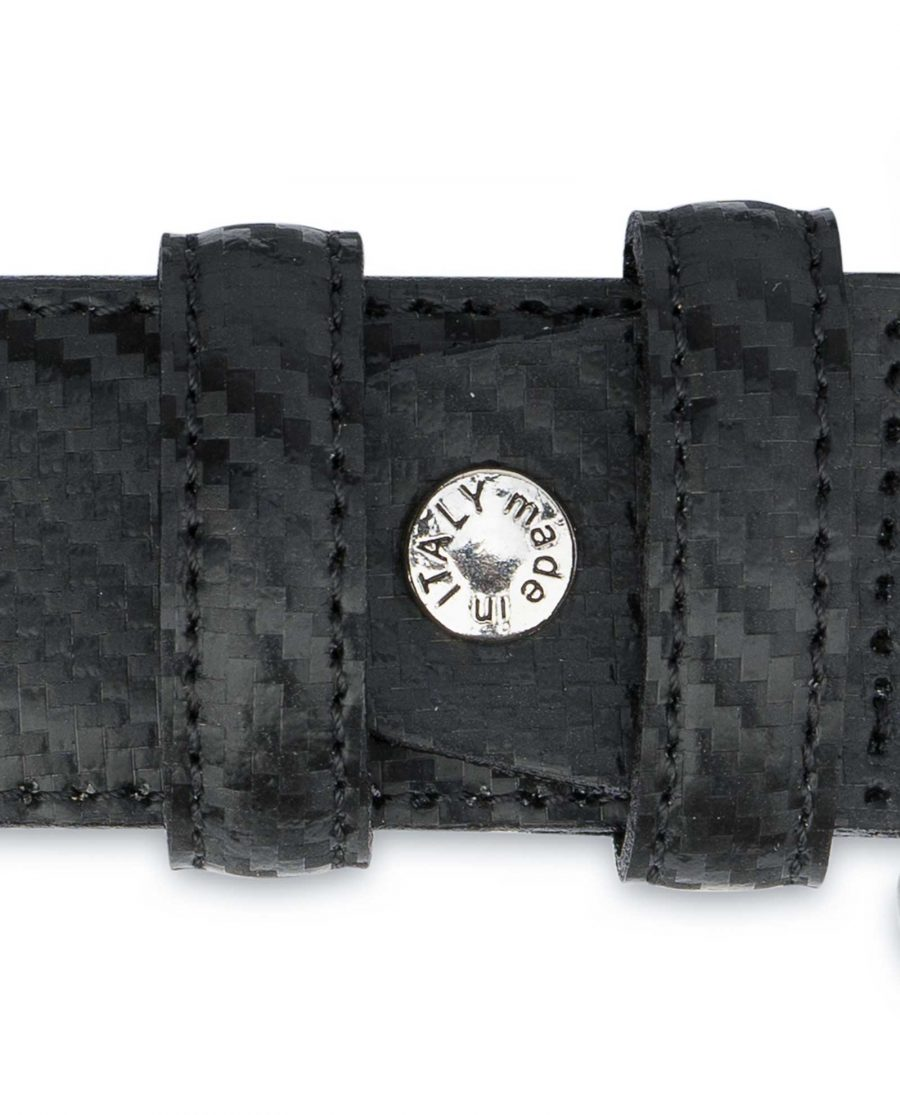 Mens-Western-Belt-With-Buckle-Black-Carbon-Screw