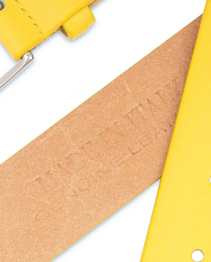 Mens-Yellow-Leather-Belt-For-Jeans-Hot-stamp