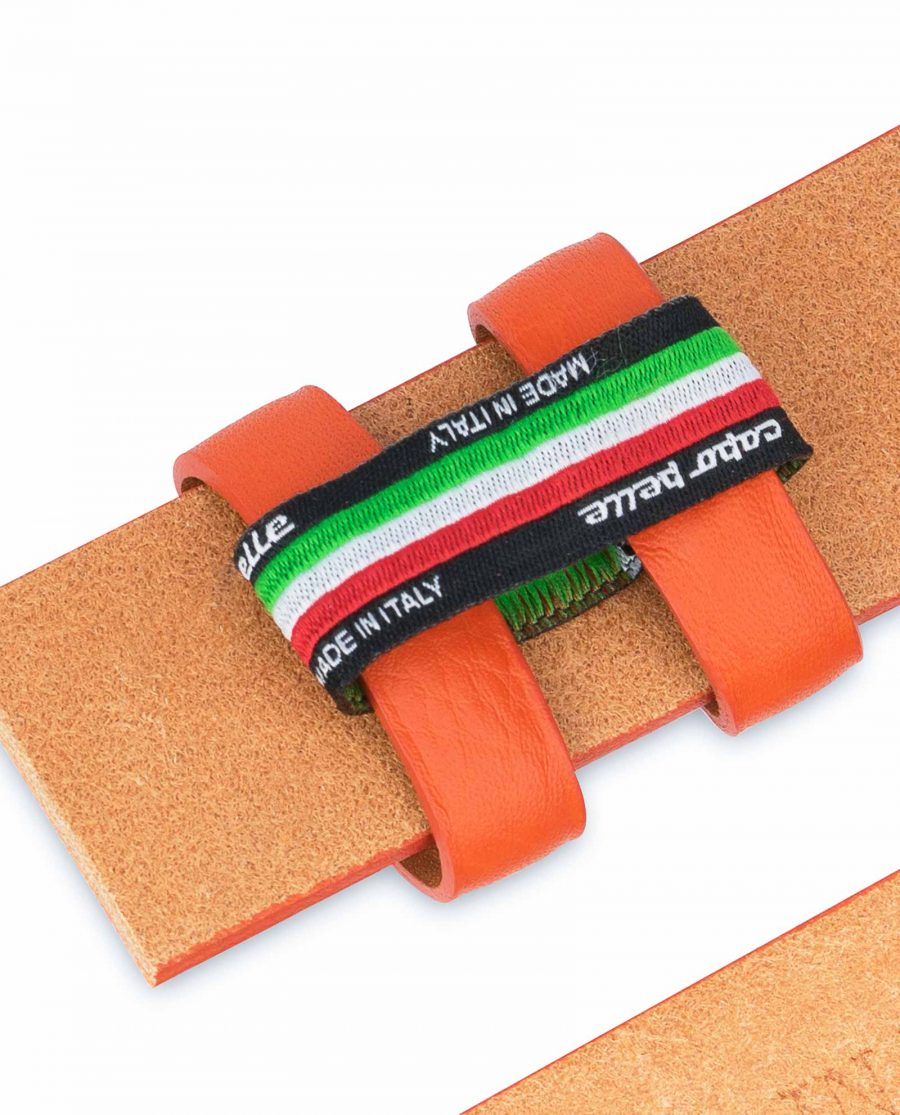 Orange-Belt-Without-Buckle-Soft-Leather-Strap-1-3-8-inch-Holders