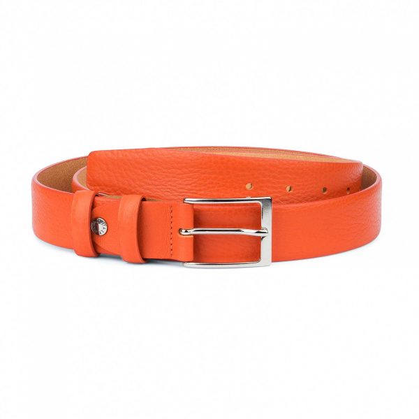 Orange-Leather-Belt-Soft-and-Luxury-Capo-Pelle