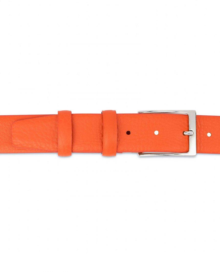 Orange-Leather-Belt-Soft-and-Luxury-On-pants