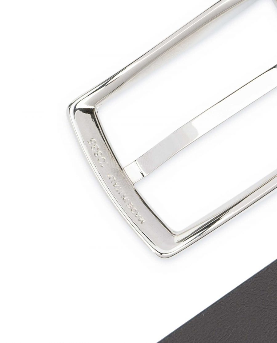 Reversible-Leather-Belt-Mens-Black-Brown-1-1-8-inch-Italian-buckle