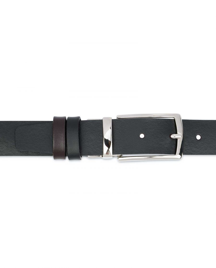 Reversible-Leather-Belt-Mens-Black-Brown-1-1-8-inch-On-pants