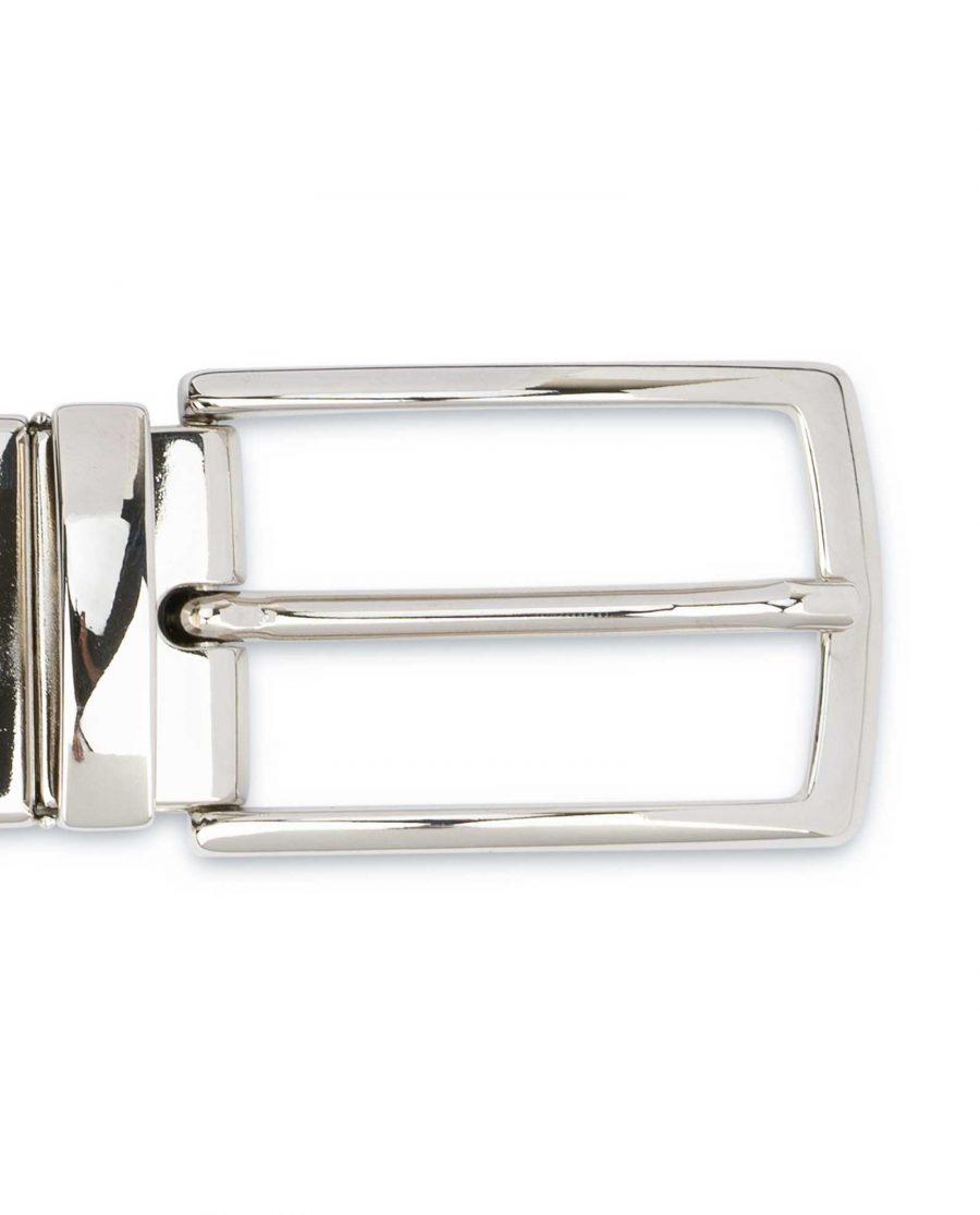 Reversible-Leather-Belt-Mens-Black-Brown-1-1-8-inch-Turnable-buckle