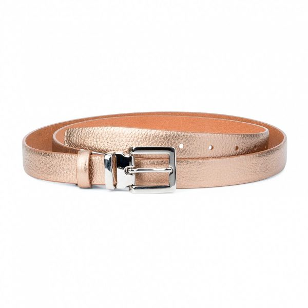 Rose-Gold-Belt-for-Dress-Square-Buckle-Capo-Pelle