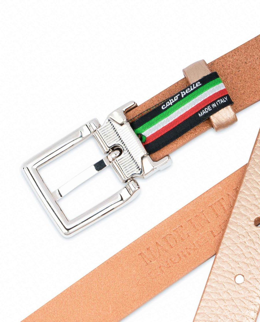 Rose-Gold-Belt-for-Dress-Square-Buckle-Heat-stamp