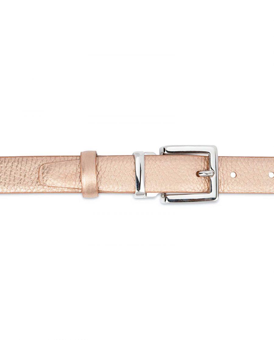 Rose-Gold-Belt-for-Dress-Square-Buckle-Silver-nickel