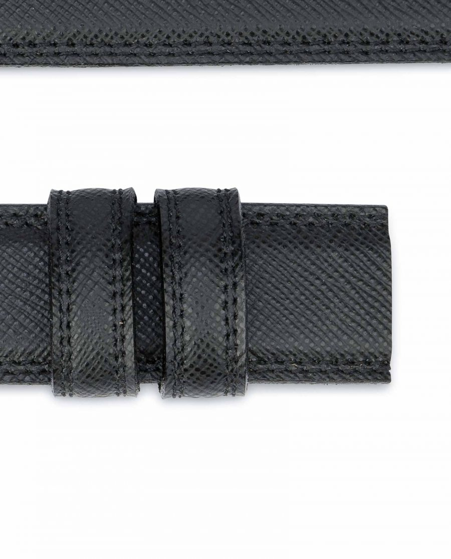 Saffiano-Leather-Belt-Without-Buckle-1-3-8-inch-Loops