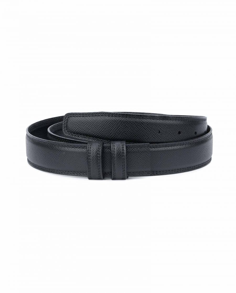 Saffiano-Leather-Belt-Without-Buckle-1-3-8-inch-Replacement-strap