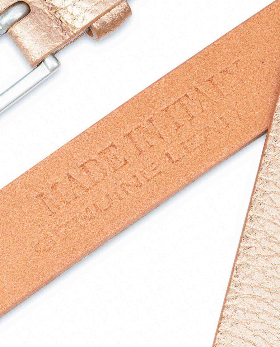 Wedding-Dress-Belt-Rose-Gold-Thin-1-inch-Geneuine-leather